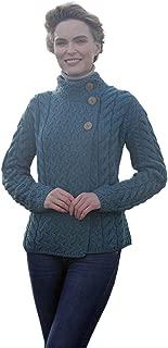 Asymmetrical Irish Multi Cable Wool Cardigan