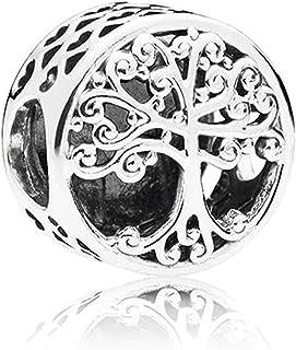 Abalorio Árbol de la Vida, Plata de Ley 925 con *Caja Regalo* Compatible con Pulsera Pandora & Europeo, Charms para Mujer ...
