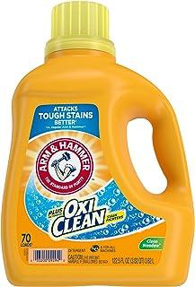 Arm & Hammer Plus OxiClean Clean Meadow, 70 Loads Liquid Laundry Detergent, 122.5 Fl oz.