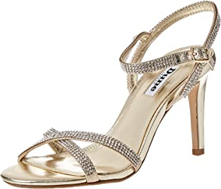 Dune London Madalenna DI Sandal For Women, Champagne, 41 EU