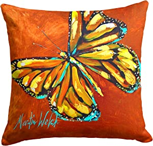 Caroline's Treasures MW1339PW1414 Monarch Butterfly Fabric Decorative Pillow, 14Hx14W, Multicolor