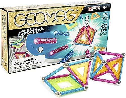 Geomag Classic 530 Glitter, Constructions Magnétiques et Jeux Educatifs, 22 Pièces