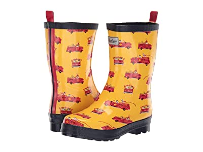 Hatley Kids Limited Edition Rain Boots (Toddler/Little Kid) (Vintage Fire Trucks) Boys Shoes