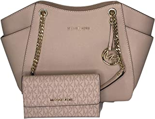 889ddd5db332 MICHAEL Michael Kors Jet Set Travel Large Chain Shoulder Tote bundled with Michael  Kors Jet Set