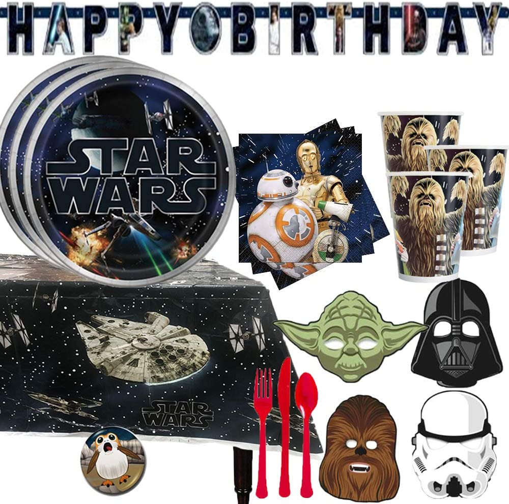 Star Wars Tableware Party Bundles for 16 Guests