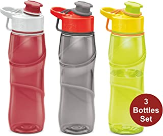 Kids Water Bottle Milton 3 Pack Triton 25 Oz Large Sports Water Bottle For Men, Women, Kid Wide Mouth Water Bottle With Strap Carry Handle For Bike Gym Running Cycling Camping Fitness Multi Color