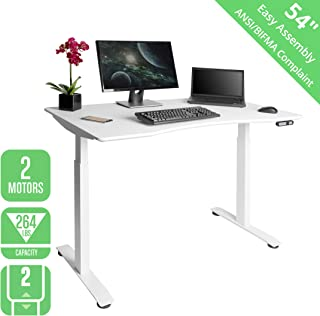 Seville Classics OFFK65821 Airlift S2 Electric Standing Desk with 54