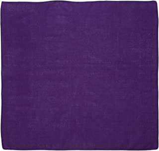 """Large 100% Cotton Solid Color Blank Bandanas (22"""" x 22"""") - For Custom Printing"""