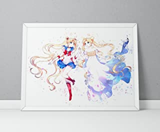 Sailor Moon print, Sailor Moon poster, Tsukino Usagi Anime poster, Anime print Watercolor N.002 (12 x 16 inch)