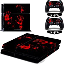 Blood Hand Cover Decal for PS4 Vinyl Skin Sticker for PlayStation 4 Console & 2 Controller Protective Skins Stickers