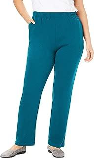 Women's Plus Size Petite 7-Day Knit Straight Leg Pant