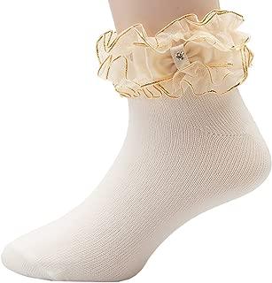 OLIVIA KOO Girl's Organza Multi Ruffle Top Anklet Socks (Infant to 11 Years)