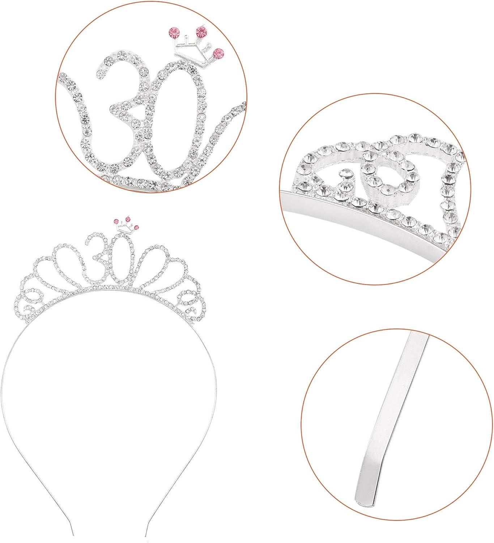 Atuka Buon 18 /° Compleanno Fascia e 18 Tiara cerchietti per Oro Rosa 18 Anni Compleanno Decorazioni Ragazza Donna Regalo di Compleanno 18 /° Compleanno