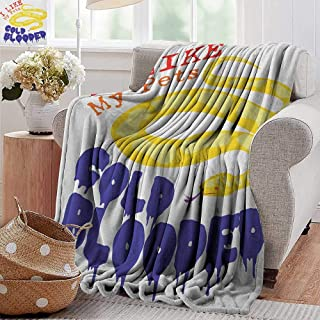 Ultra Soft Flannel Blanket,Reptile,Majestic Snake Says the Wild Truth Pet Lover Best Friend Illustration Print, Purple Yellow Red,Lightweight Microfiber,All Season for Couch or Bed 70