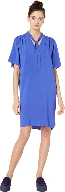 Tie Front Ruched Dress