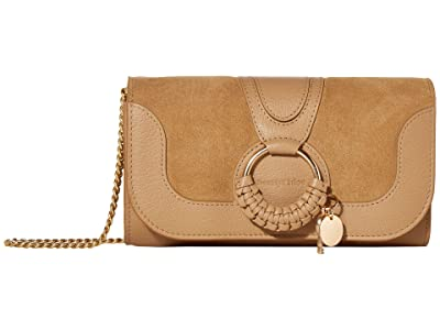 See by Chloe Hana Long Wallet with Flap (Coconut Brown) Handbags