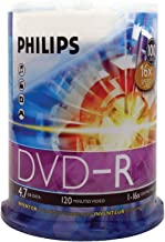 HOODM4S6B00F - PHILIPS DM4S6B00F 17 4.7GB 16x DVD-Rs (100-ct Cake Box Spindle)