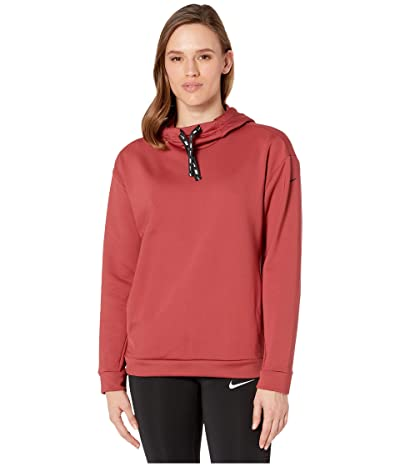 Nike Therma All Time Ribbon Drawcord Pullover Hoodie (Cedar/Black) Women