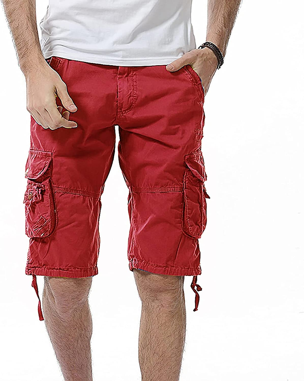 Dellk New Military Cargo Summer Men Shorts Male Casual Fashion Clothing Cotton Loose Work Tactical Camouflage Plus Size