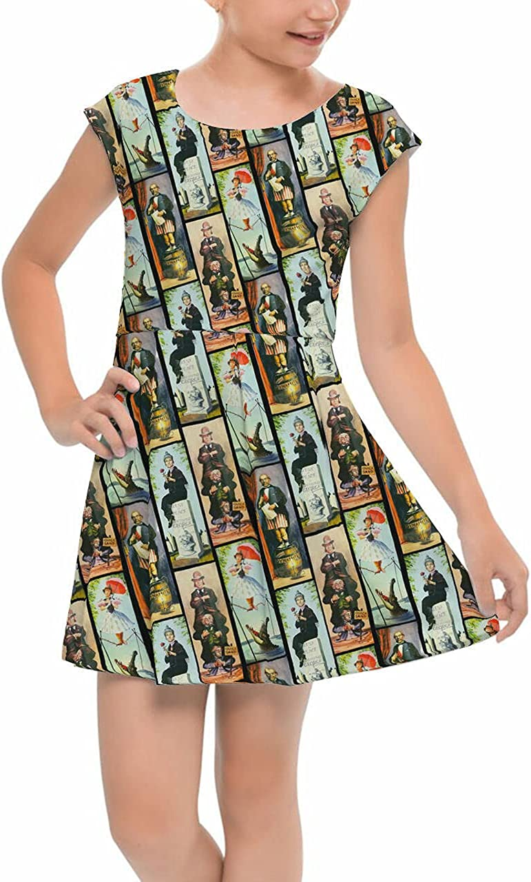 Rainbow Rules low-pricing Popular product Girls Cap Sleeve Pleated Haunted - Mansion Dress S