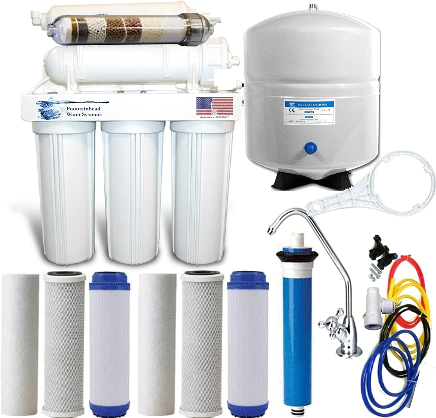 Reverse Osmosis Fees free!! Alkaline Ionizer Neg Water National products ORP 100GPD Cho Filter