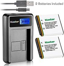 Kastar Battery (X2) & LCD Slim USB Charger for Kodak KLIC-7001 and Kodak EasyShare M320, M340, M341, M753 Zoom, M763, M853...