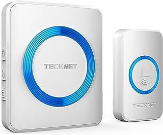 Sponsored Ad – TECKNET Wireless Doorbell, Waterproof Wall Plug-in Cordless Door Chime Kit with 300m Range, 38 Chimes, 4-Le...