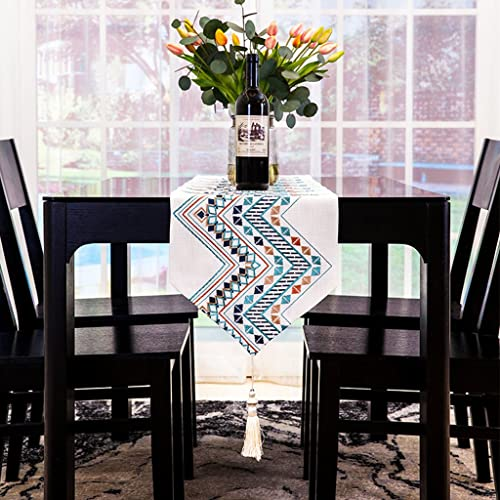 BSNOWF-Tischl er BeStückte Tischl er Tuch Kunst Bett Flagge Hotel Nachttisch Wohnzimmer Tee Tischfahne Moderne Einfache