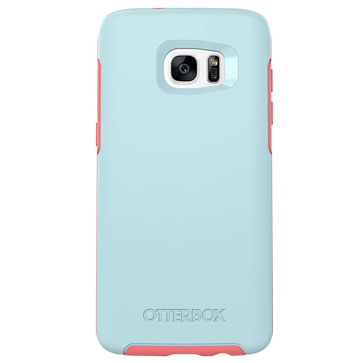 OtterBox SYMMETRY SERIES Case for Samsung Galaxy S7 Edge - Retail Packaging - BOARDWALK (BAHAMA BLUE/CANDY PINK)