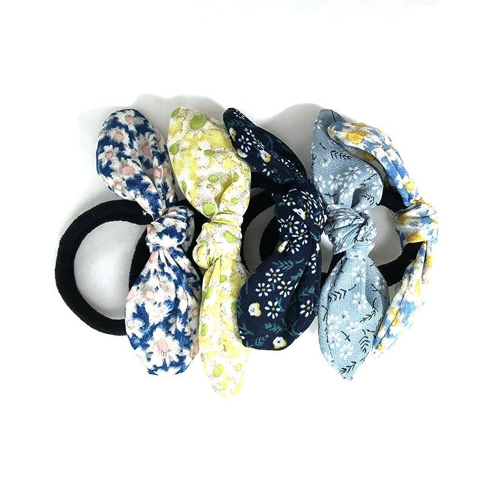 に付ける横に砲兵BLUEPOP 快適な弾性の花のワイヤーリボンの髪の結び目の5個のスタイリッシュなストレッチ [並行輸入品]