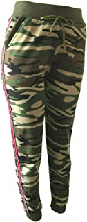 NY GOLDEN FASHION Women Casual Camo Sweatpants Jogger Pants Camouflage Work Out Pants with Pockets