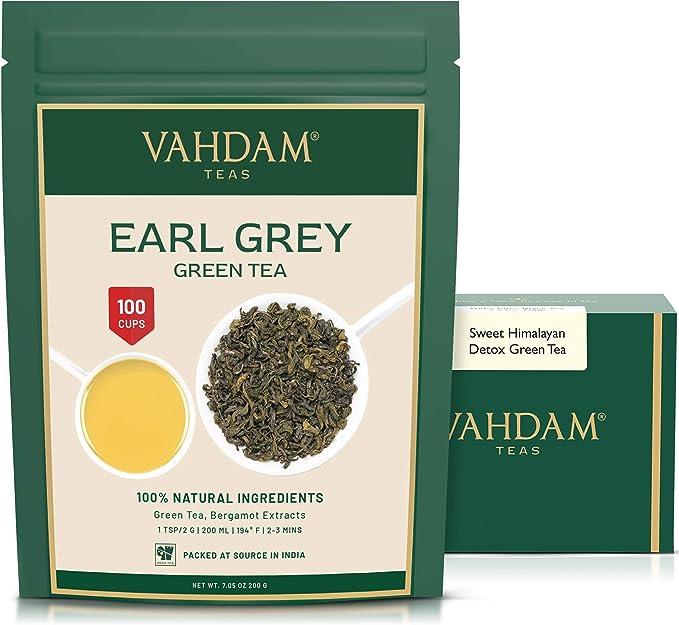 863 opinioni per Foglie Di Tè Verde Dell' Himalaya Earl Grey, 200g (100 tazze)   Tè Verde