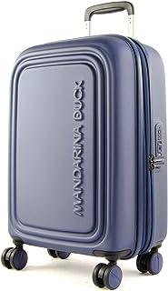 Mandarina Duck - LOGODUCK + Trolley Cabin EXP / Estate Blue, Luggage- Suitcase Unisex, Estate Blue, 55x35x23cm - P10SZV3419R