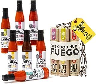 Modern Gourmet Foods, Fuego Hete Sauzen Set, 7 Verschillende Chilisauzen, 90 ml elk