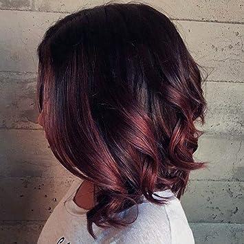 Schwarz rote kurze haare