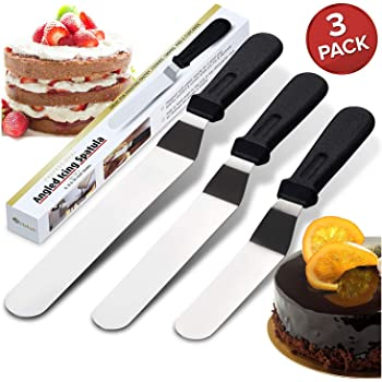 Orblue Angled Metal Icing Spatula 3-Pack