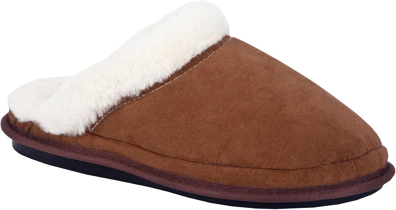 Aski Slippers Lalush Cozy, Super Comfy Slippers for Women - Open-Back Faux Fur Memory Foam Cushioning Footwear