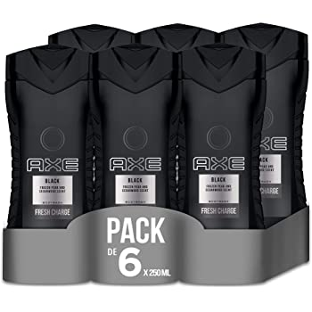 Axe Black - Set de 6 geles de ducha (6 x 250 ml): Amazon.es: Belleza