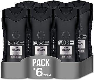 Axe Black - Set de 6 geles de ducha (6 x 250 ml)