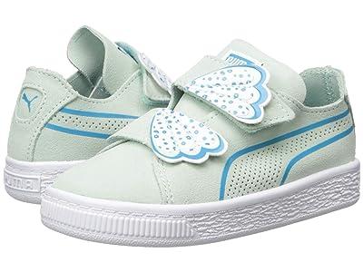 Puma Kids Suede Deconstruct Butterfly V (Toddler) (Fair Aqua/Caribbean Sea/Puma White) Girls Shoes