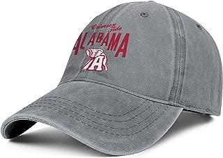 Unisex University-of-Alabama-Logos- Baseball-Cap Hat - Classic Adjustable Sports Cowboy Hat