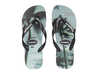 Havaianas Top Photoprint Sandal (Black/Black/Steel Grey) Men
