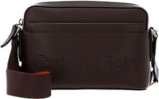 Calvin Klein Camera Bag With Pocket Slate Brown