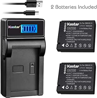 Kastar Battery (X2) & Slim LCD Charger for Panasonic DMW-BCJ13 DMW-BCJ13E DMW-BCJ13PP Leica BP-DC10 BP-DC10-E BP-DC10-U & Lumix DMC-LX5 DMC-LX55 DMC-LX5K DMC-LX5W DMC-LX7 and Leica D-Lux 5, D-Lux 6