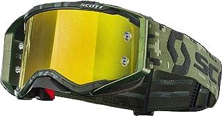 Scott Prospect SR Military MX Offroad Googles Khaki Green w/Yellow Chrome Lens