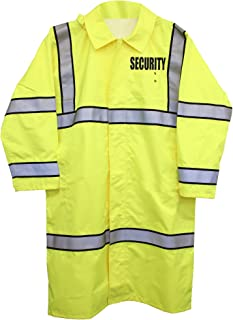 Long Lime Green High-Visibility Raincoats, Security ID