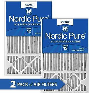 Nordic Pure 16x25x5 MERV 12 Honeywell/Lennox AC Furnace Air Filters 2 Pack