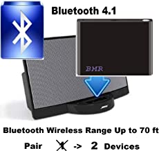 BMR A2DP 4.1 Bluetooth Music Receiver Adapter for Bose SoundDock, 30 pin Docking Station, iPhone, Samsung, Nokia, HTC, LG, Echo Alexa