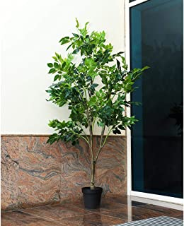 نبات اليتا الطبيعي النبات النبات الاصطناعي يقارب 2.2 متر ارتفاع فيكوس شجرة وهمية مع وعاء بلاستيكي لتزيين المنزل والحديقة -...