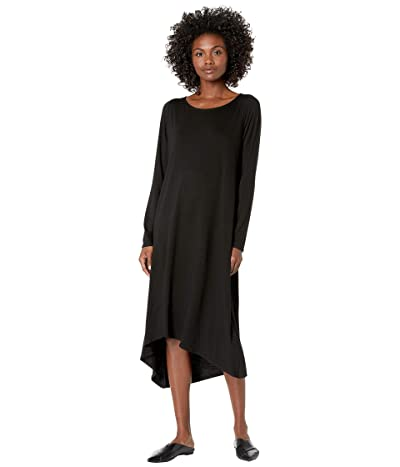 Eileen Fisher Ballet Neck Dress (Black) Women